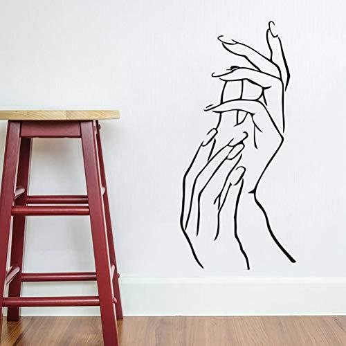 MMLFY Muursticker muursticker nail bar shop haar schoonheidssalon muur art decal diy huisdecoratie muurschildering verwijderbare nagellak olie winkel naam