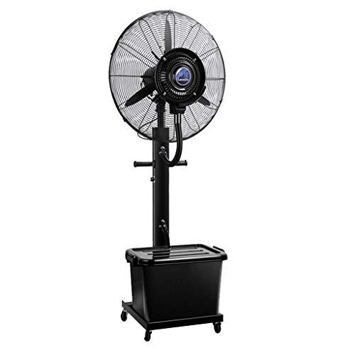 WSJ-Ventiladores de pedestal industrial vaporizador de fábrica, ventilador eléctrico de refrigeración comercial con ruedas/tanque de agua de 42 l - negro, altura fija 175 cm ahorro de energía, 65cm