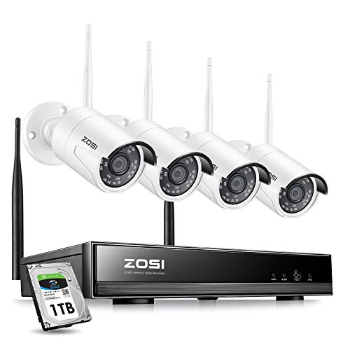 ZOSI Wireless Security Cameras System,H.265+ 8CH...