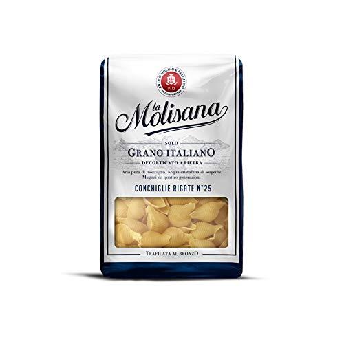 La Molisana Conchiglie Rigate N.25 Pasta Corta, Solo Grano Italiano - 500G