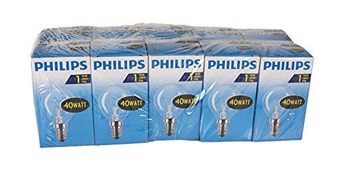 Preisvergleich Produktbild Philips 30600019 Glühlampe Tropfenform,  40 Watt,  E14,  klar,  10er