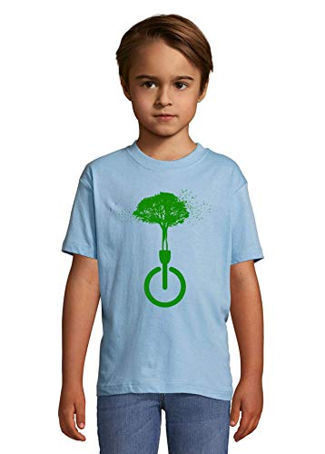 Luckyprint Dissconnect Green Nature Forest Birds Hippie Art Heaven Kids Colorful T-Shirt 10 Year Old (130/140cm)