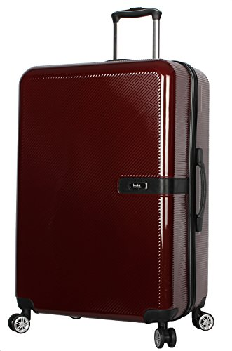 """Nicole Miller New York Ria Collection Hardside 28"""" Luggage Spinner (28 in, Ria Burgundy)"""