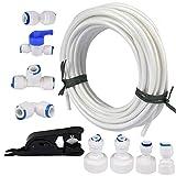 Tubo de tubería de suministro de agua 15m con kit de accesorios...