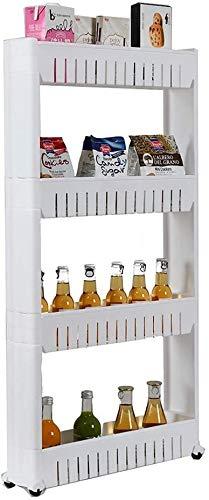TONG Pequeño estante para carrito de cocina movible de varias capas para el suelo, para sala, aperitivos, para frutas y verduras (tamaño: 4 niveles)