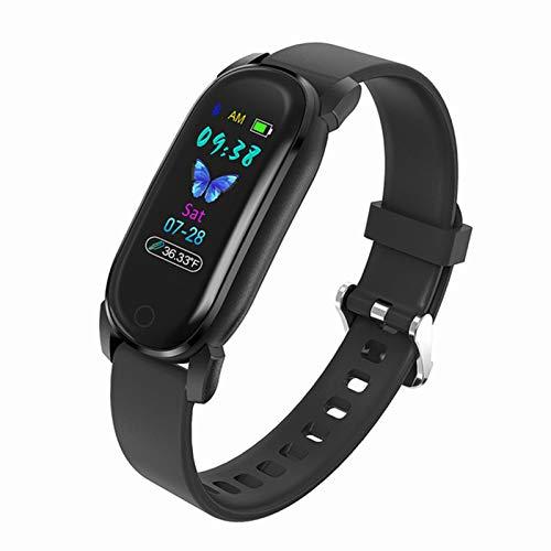 Pulsera del Termómetro YD8 Smart Watch Sphygmomanómetro Paso De Paso Pulsera Inteligente A Prueba De Agua para Android iOS,A