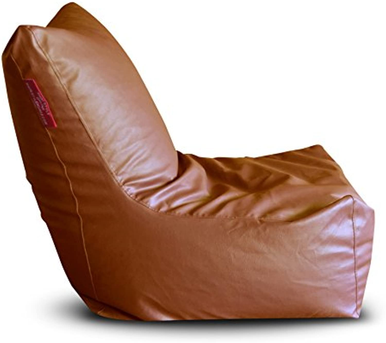Style Homez Premium Leatherette XXL Bean Bag Chair Tan color, Cover Only