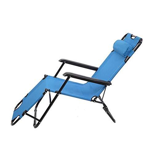 RLJJCS1163 RHC-202 portátil de Doble propósito Extensible Plegable Silla reclinable Azul Fuera Silla de jardín (Color : Blue Chair)