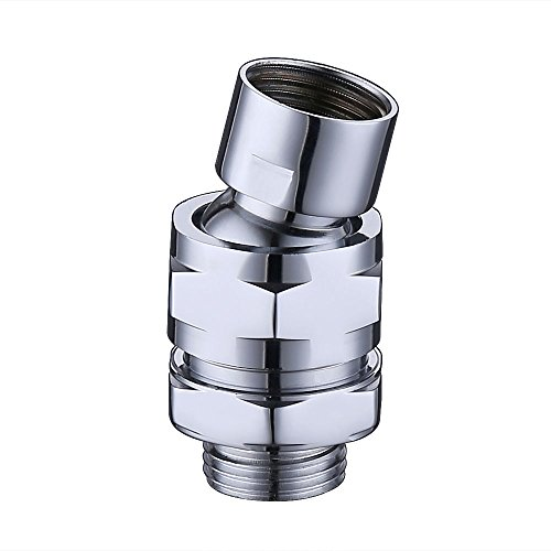 KES Shower Head Swivel Ball Adapter - Brass Ball Joint Adjustable Shower Arm Connector Universal Showering Component Polished Chrome, PSB100