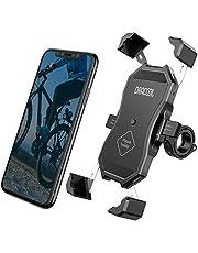 "Dracool Soporte Movil Bici Bicicleta Moto Motocicleta Universal 360° Rotación Manillar para iPhone 11 Pro Max/X/XS/MAX/XR/8/8 Plus/SE/Samsung Galaxy S20/S10/S10e/9/Huawei/Xiaomi/OnePlus 4""-7"" Negro"