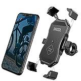Dracool Soporte Movil Bici Bicicleta Moto Motocicleta Universal 360° Rotación Manillar para iPhone 11 Pro Max/X/XS/MAX/XR/8/8 Plus/SE/Samsung Galaxy S20/S10/S10e/9/Huawei/Xiaomi/OnePlus 4'-7' Negro