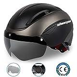 Shinmax Casque de vélo, Certifié CE, avec aimantée Visière magnétiques Amovibles Bouclier de...