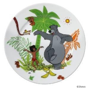 WMF Disney El Libro de la Selva - Plato para niños de porcelana, Ø19cm (WMF Kids infantil)