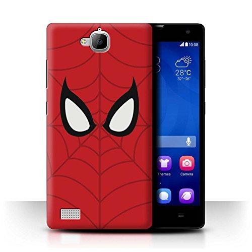 Hülle Für Huawei Honor 3C Superheld Comic-Kunst Spider-Man Maske Inspiriert Design Transparent Ultra Dünn Klar Hart Schutz Handyhülle Hülle