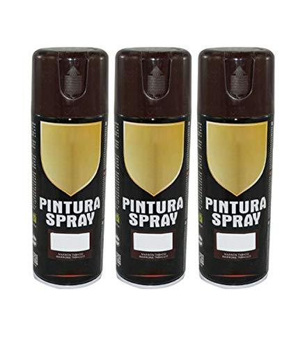 Pintura Spray Marron Tabaco 400 Ml - Pack de 3 Unidades