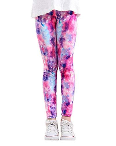 Pantalones Leggings Elástica Chicas Estampado De Flores para Niñas 8-12 Años