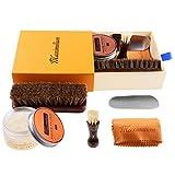 MAXIMILIAN Professional Neutral Shoe Polish & Shine Kit, Horsehair Shoe Brushes/Shoe Polish...