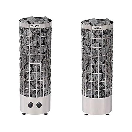 Sauna Poêle Électrique Harvia Cilindro PC90 9,0 kW acier inoxydable, avec unité de contrôle encastré, Taille de sauna: 8 - 14 m³ , Tension 400 V 3N ou 230 V 1N