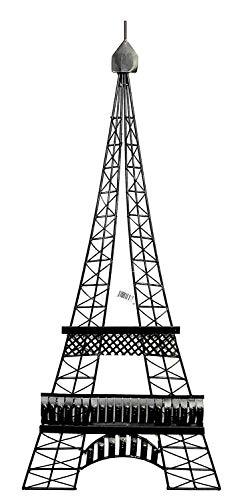 Bellaa 27352 Metal Wall Art Eiffel Tower Paris Decor Contemporary Unique Modern Abstract Geometric 39 inch