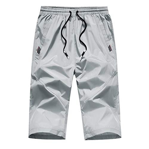 iHAZA Uomo Outdoor Fast-Essiccazione Slim Sport Ricreativi Multi-Pocket Pantaloni Spiaggia Pantaloni