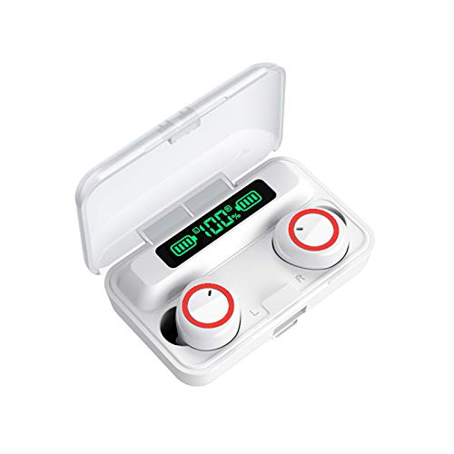 F9-3 Bluetooth 5.1 TWS Earbuds True Wireless Headphones Touch Control 2800mAh Charging Box Battery Power Display Mini Sports Twins Headset with Microphone USB Output