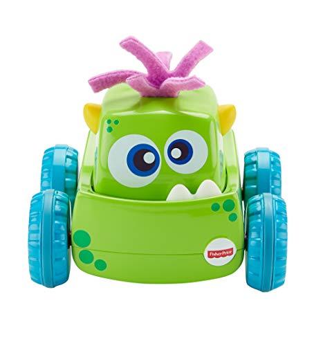 Fisher-Price Coche Monstruito verde, juguete gateo