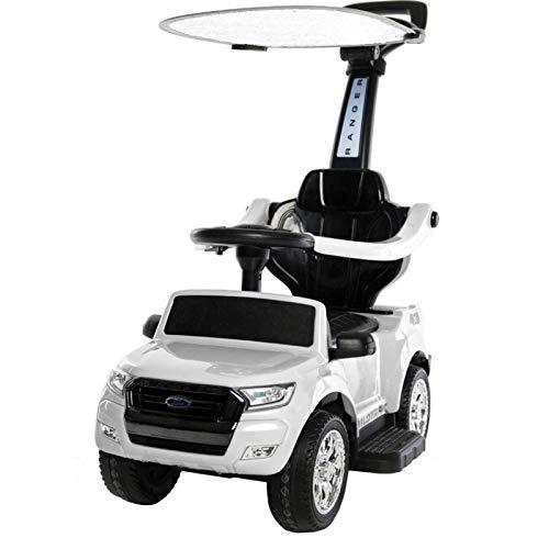 ATAA Correpasillos Ford Ranger 6v - Blanco - Coche eléctricos para niños de batería 12v