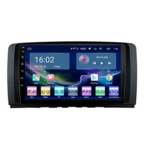 Navegación de coche, pantalla táctil de 9 pulgadas, radio de coche Android 10 para Mercedes Benz R Class, con manos libres Bluetooth, con cámara de marcha atrás,4g+wifi 2g+32g