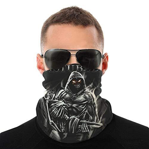 Lsjuee Disturbed Face Mask Bandanas, Halsmanschette, Kopfbedeckung, Magic Scarf, Stirnband für Dust Sun Wind, wiederverwendbare Bandana Face Cover Black