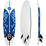 GYMAX Surfboard, 6FT Stand Up Paddle Board with Removable Fins &...