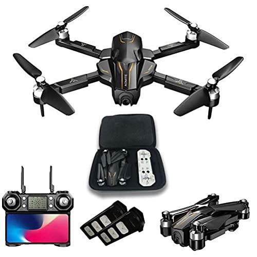 Drone 30 minuti di volo, drone GPS con fotocamera per adulti 4K UHD FPV, quadricottero GPS RC con motori brushless, distanza telecomando 1000M, ritorno automatico, 110 gradi;Fotocamera grandangolare