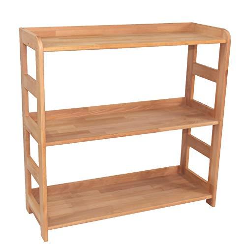 Echtholzprofi Praktisches Regal Beethoven 90x90x33cm, Echtholz Buche geölt für Wohnzimmer, Büro oder Kinderzimmer