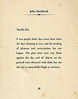 John Steinbeck Tortilla Flat Quote - Wall Decor Art Print - 11x14 unframed typography book page print - great gift for book and literary fans