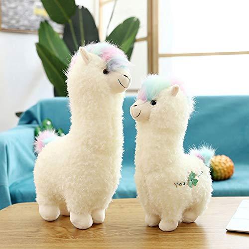 Uni-Wert Alpaca di Peluche 38 cm Alpaca Animali Peluche Alpaca Giocattolo di Peluche Bambini Simpatico Alpaca Peluche Giocattoli di Animale Morbido di