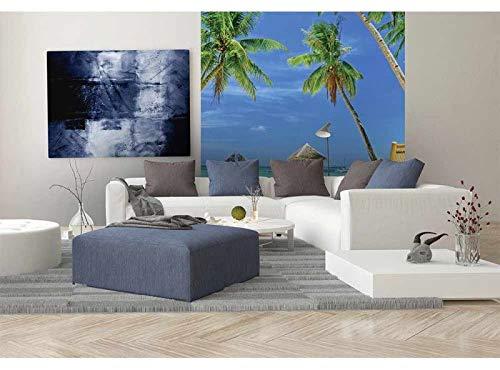 Vlies Fotobehang TROPISCH STRAND | Niet-Geweven Foto Mural | Wall Mural - Behang - Reusachtige Wandposter | Premium Kwaliteit - Gemaakt in de EU | 225 cm x 250 cm