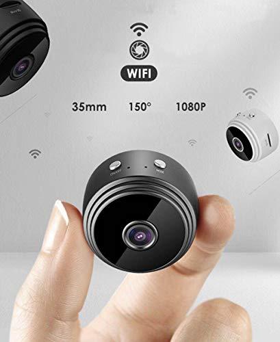 Cámara espía Wifi oculta, mini cámara de vigilancia de seguridad 1080P Full HD inalámbrica para el hogar, interior, exterior, visión nocturna portátil
