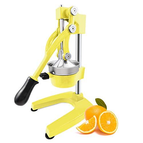 ROVSUN Commercial Grade Citrus Juicer Hand Press Manual Fruit Juicer Juice Squeezer Citrus Orange Lemon Pomegranate Yellow