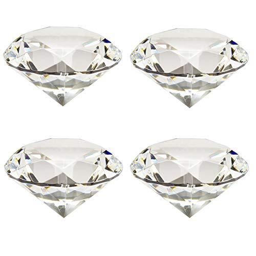 Etern 4PCS 40mm Diamante Sintetico, Artificiale Diamante Cristallo, Pietra Diamante Cristallo Fermacarte, per Decorazioni per Matrimoni, Decorazioni per Feste, Decorazioni per Vetrine