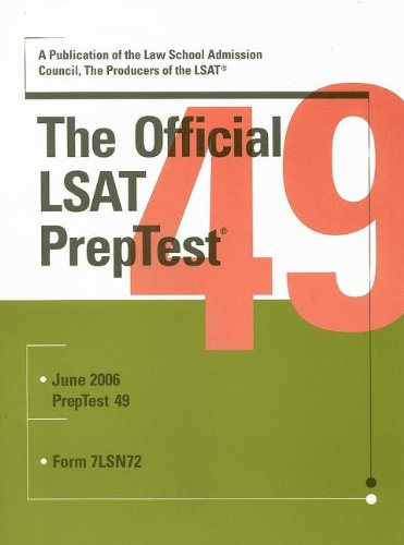 The Official LSAT PrepTest 49 (Official LSAT PrepTest)