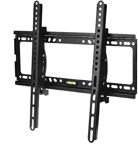 TV Wall Mount Bracket Low Profile Tilting for 26-55 inch Screen LED LCD OLED 4K TV with VESA up to 400x400mm Weight Capacity Up to 110lbs Match for Samsung LG Sony TV by (26-55 inch Adjustable Angle)