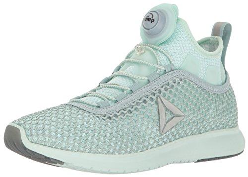 Reebok Women's Pump Plus Vortex Running Shoe, Seaside Grey/Mist/Silver Met, 7 M US
