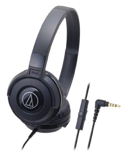 Audio-Technica Street Monitoring ATH-S100iSBK Portable Headphone for Smartphone (Black)