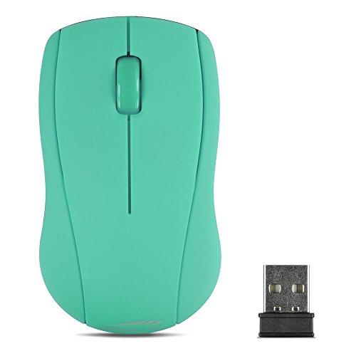 Speedlink SNAPPY Mouse - kabellose 3-Tasten-Maus mit bis zu 8 m Reichweite - gummierte Oberfläche, türkis