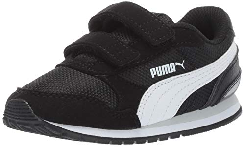 PUMA - St Runner, velcro Unisex Niños , negro (Black-white-grayviolet), 27 M EU Kleines kind