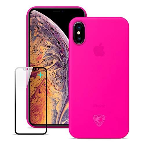 Lead Tech Cover iPhone XR,Custodia iPhone XR,Cover iPhone XR e Vetro Temperato iPhone XR,Stile Minimalista Ultra Sottile e Ultraleggero, Schermo in Vetro Temperato