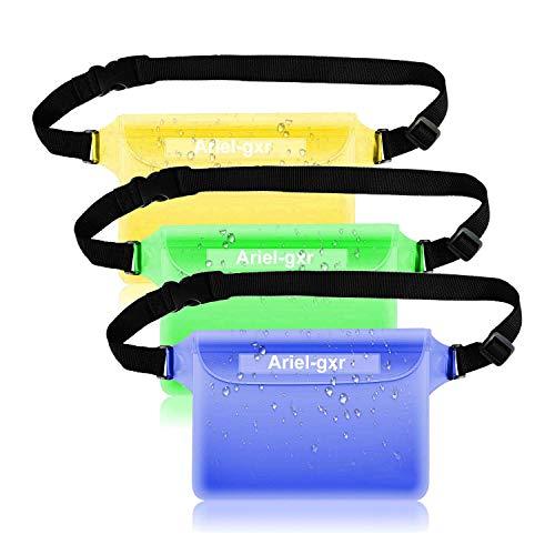 3 Stück Wasserdichte Tasche Gürteltasche Strandtasche mit verstellbarem Hüftgurt Wasserdichte Beutel Bauchtasche Handyhülle Schutzhülle Strandtasche für Wassersport Strandschwimmen Bootfahren