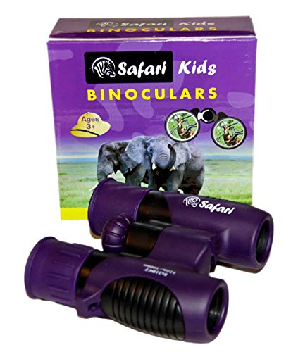 Kids Binoculars 8X21 Shock Proof by Safari Kids. with Rubber Coating and High Resolution Lenses – Bird Watching- Hiking-Gifts for Boys and Girls- Children Outdoor Toys for Play and Nature Watching