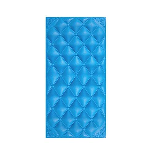 Jitong Créatif Décor Stickers Muraux Vintage Mousse Anti-Collision Papier Peint Élégant 3D Wallpaper pour Chambre Salon Maternelle (#3 Bleu, 30 * 60 * 1.8cm)