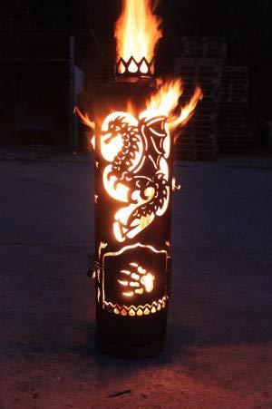 Mandelu Feuerstelle Feuertonne Drache
