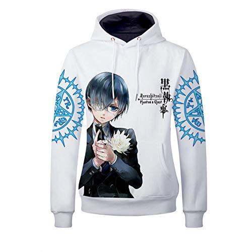 Gumstyle Anime Black Butler Hooded Sweatshirt Adult Cosplay Pullovers 2-M